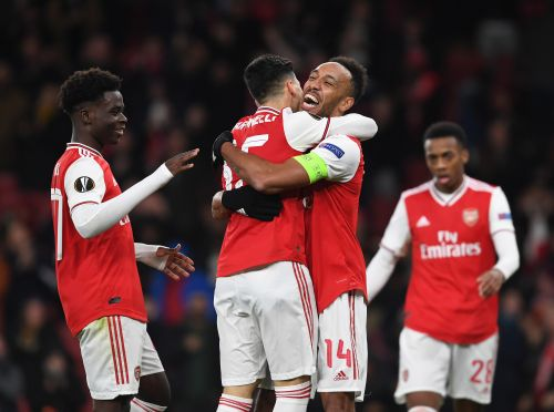 Pierre-Emerick Aubameyang delighted for Bukayo Saka and Gabriel Martinelli after Arsenal tie down youngsters