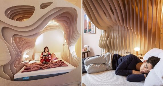 If you literally want to sleep like a baby, head over to this womb hotel room