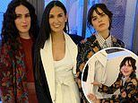 Demi Moore and daughters dress to the nines for Harper's Bazaar party celebrating memoir Inside Out