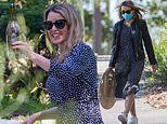 Dannii Minogue celebrates her 50th birthday with boyfriend Adrian Newman and pals with a picnic