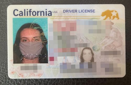 Woman forgets to take off something important for new driving licence