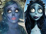 Halsey flawlessly nails her ghoulish Corpse Bride costume inspired by Tim Burton's 2005 film