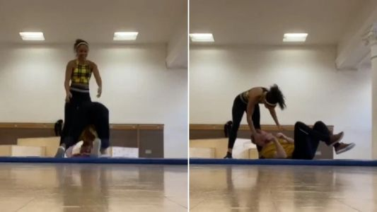 Strictly Come Dancing's Neil Jones accidentally dropped on his head by Alex Scott after punishing 13-hour rehearsal