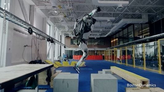Video of a robot doing parkour is even better when you see the blooper reel