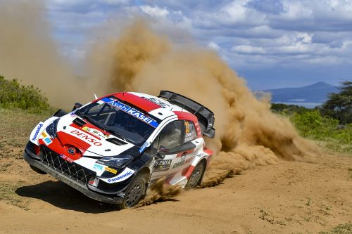 WRC Safari: Toyota's Evans out early after hitting rock