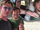 Chris Hemsworth gives American hitchhiker a free ride to Byron Bay via helicopter