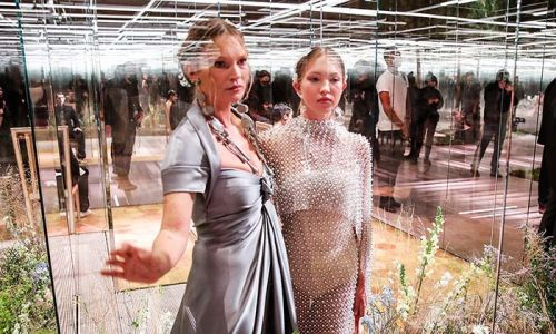 Kate Moss' daughter Lila Grace is her double in Paris Fashion Week appearance