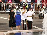 Meghan and Harry arrive at Sydney's Hyde Park to open the ANZAC Memorial
