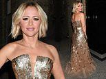 Kimberley Walsh dazzles in glittering gown as she celebrates her starring role in Big The Musical