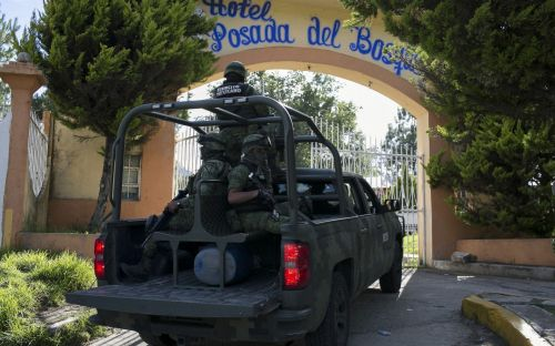 Entire police force arrested in Mexican town after mayor candidate murdered