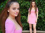 Joey King is ever the well-outfitted actress as she sports an eye-catching pink dress in Los Angeles