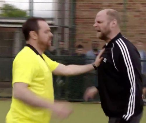 Actor seen abusing Danny Dyer's EastEnders character was jailed for being a football thug