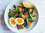 Scintillating Salads: Charred broccoli, asparagus and boiled egg salad with lemon garlic dressing