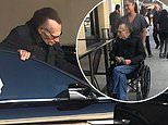 Larry King looks 'frail and thin' as a personal nurse wheels him out of restaurant