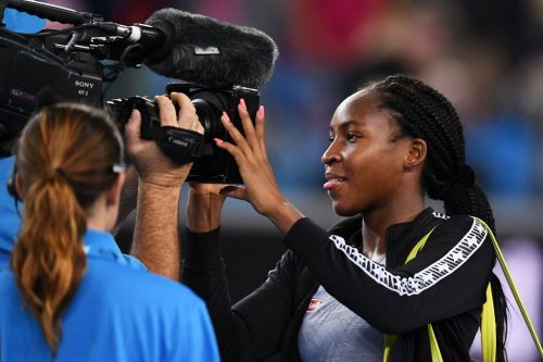15-year-old Coco Gauff reacts to knocking Venus Williams out of Australian Open