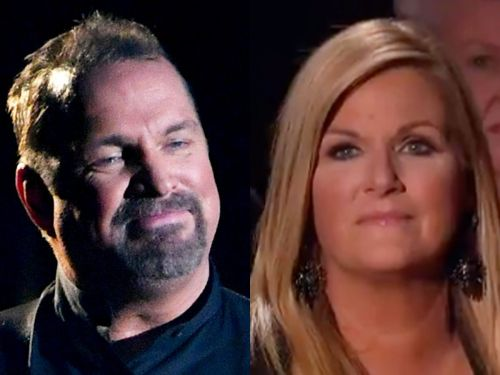 Garth Brooks teared up while performing a never-before-released song dedicated to his wife Trisha Yearwood