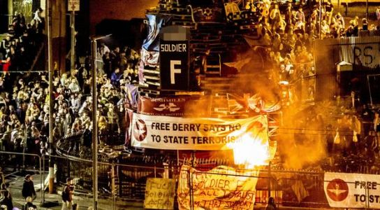 Appeal from across the divide to end flag burning on bonfires