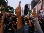 Thousands of protestors take to Bangkok streets after Thai Prime Minister ignored deadline to resign