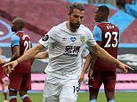 West Ham 0-1 Burnley: Jay Rodriguez header leaves David Moyes' men mired in relegation battle