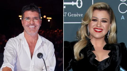 Simon Cowell thanks Kelly Clarkson for replacing him on America's Got Talent after back surgery