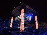 Anthony Joshua fans unable to see heavyweight fight due to a huge orange pillar in the new stadium