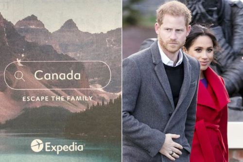 Expedia trolls Harry and Meghan with 'escape the family' Canada holiday advert