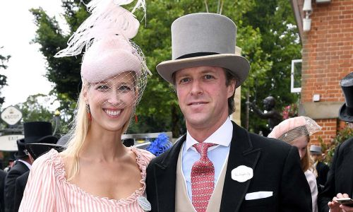 Newlywed Lady Gabriella Windsor is pretty in pink as she arrives for Ascot's Ladies Day - and she's wearing Kurt Geiger shoes!