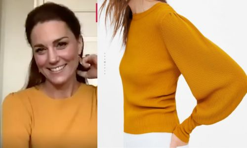 Kate Middleton wows in bold Zara jumper as she shows off chic at-home style