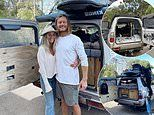 Couple who converted their car into a 'home on wheels' are planning to complete a loop of Australia