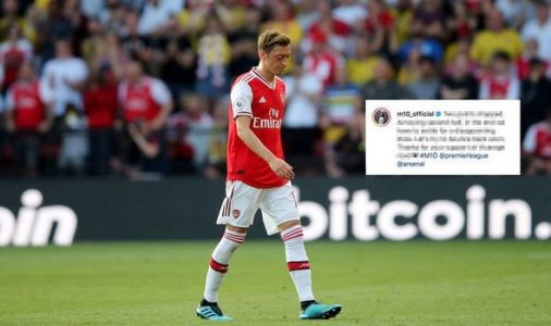 The Instagram message an annoyed Mesut Ozil sent Arsenal fans after Watford meltdown