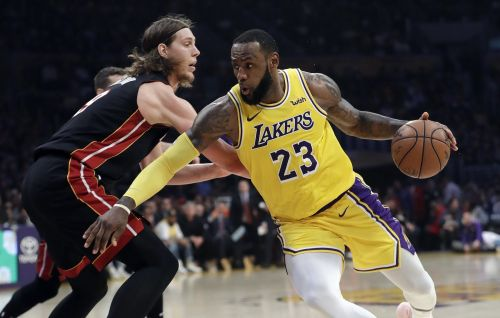 LeBron James channeled 'Dodgeball' when he mercilessly pounded the ball off Kelly Olynyk's gut during an NBA game