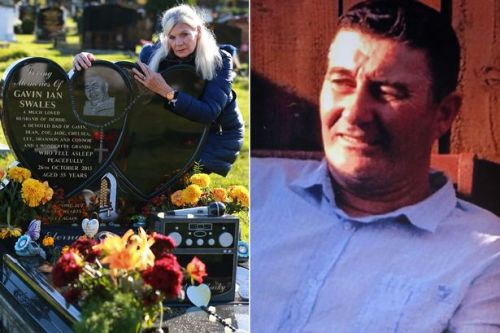 Widow's horror as husband's coffin is dropped exposing body to hundreds