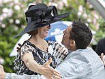 Frankie Dettori embraces Darcey Bussell as he wins Prince of Wales' Stakes on Day Two of Royal Ascot