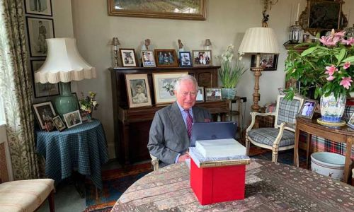 Prince Charles and Camilla have the most gorgeous wedding photo on display at Scottish home