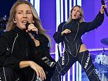 Ellie Goulding puts on raunchy display in risqué chaps and bodysuit at Radio 1's Big Weekend