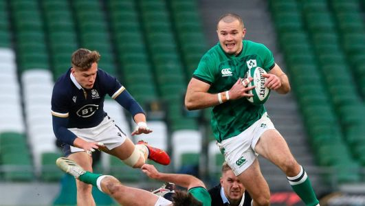 Ireland v Scotland LIVE: Updates as Keith Earls tries help Ireland into lead in final Autumn Nations Cup tie at Aviva Stadium