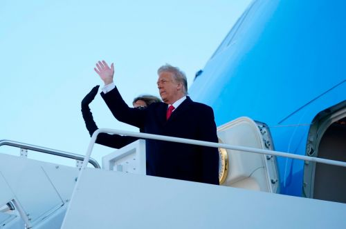 Donald Trump's final flight as president takes off to Frank Sinatra classic 'My Way'