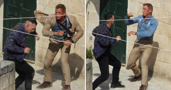 Daniel Craig is left bruised and bloodied as he films Bond 25, No Time To Die