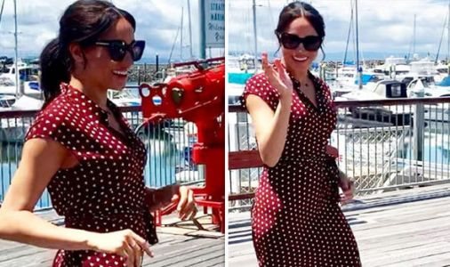 Meghan Markle stuns in polka dot dress on Fraser Island but will spend the day RESTING