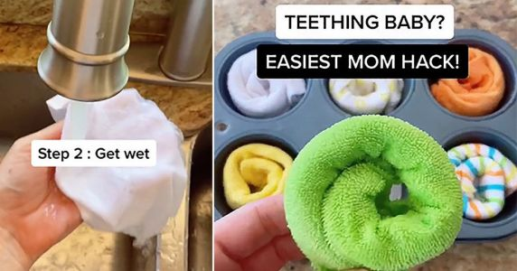 Mum shares brilliant baby teething ring hack which helps soothe gums