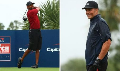 Tiger Woods trolls Tom Brady in charity match after disastrous tee shot