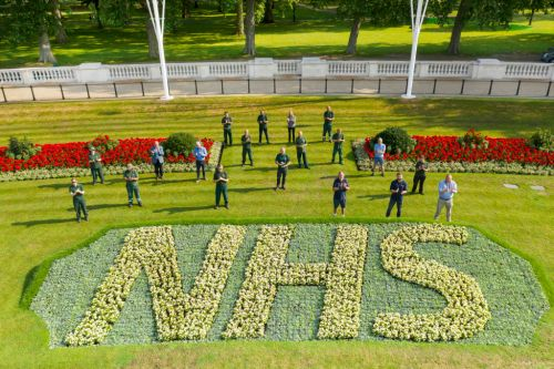 Buckingham Palace unveils floral tribute to NHS ahead of 72nd anniversary