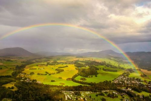 Stunning photo of rainbow over castle sees first winner of our new competition