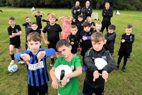 Under-7s football team back in action after council chiefs reverse pitch pee ban