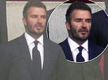 David Beckham shows his support for England and watches the Euro 2020 match