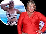 Gemma Collins says she has been 'hammering the cheese and red wine' during her lavish staycation