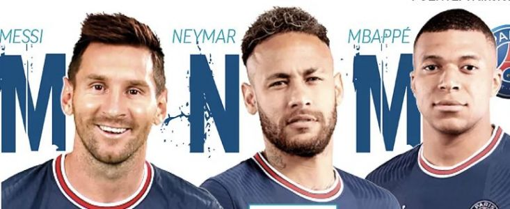 PSG's world class MNM front line to debut in Wednesday's Champions League tie against Club Brugge