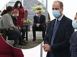 In Princess Diana's footsteps: Prince William dons face mask for visit to Royal Marsden Hospital